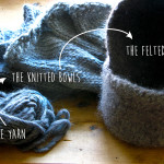 felted bowl process